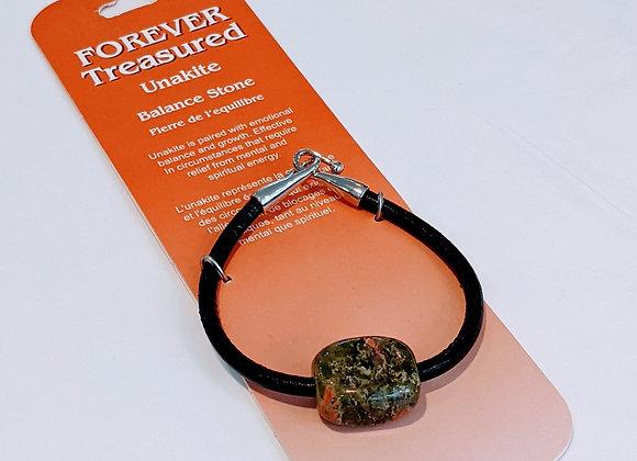 Bracelet une pierre Unakite