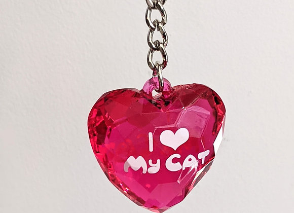 Porte clé I love my cat