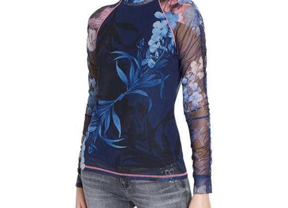 T-shirt slim fleurs