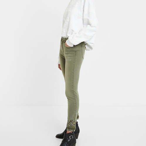Pantalon en jean skinny exotique