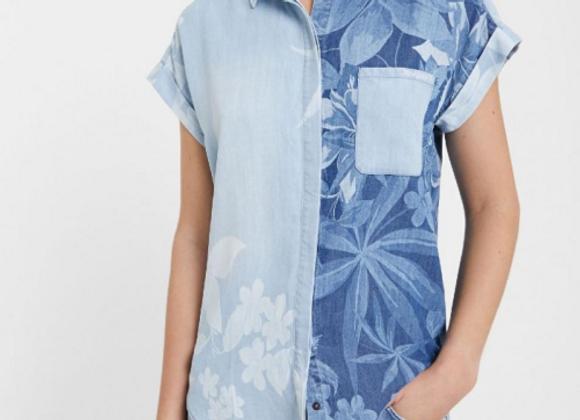 Chemise Tencel™ en jean hawaïenne