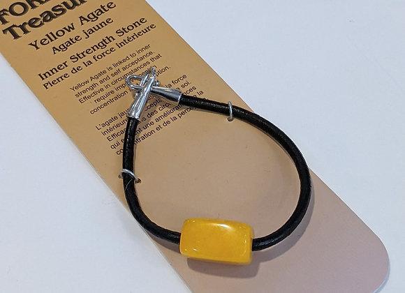 Bracelet une pierre Agate Jaune