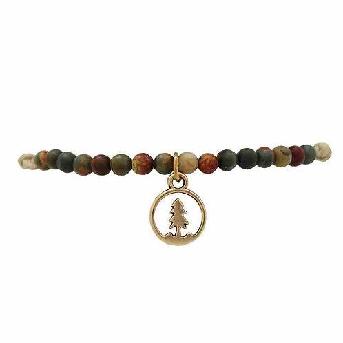 Bracelet pierres sapin