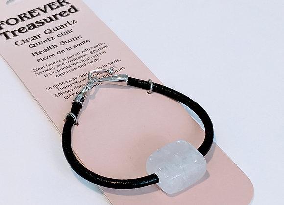 Bracelet une pierre Quartz Clair
