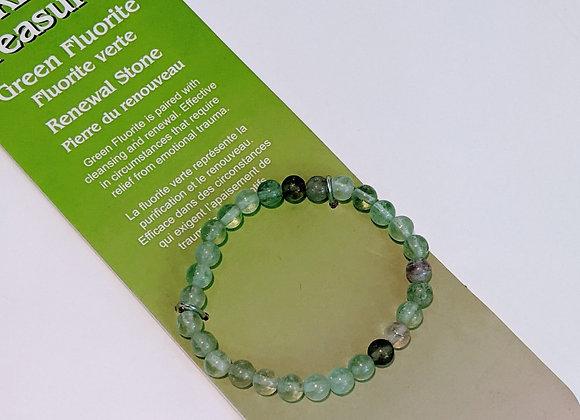 Bracelet simple Fluorite verte