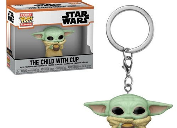 Keychain Pop! The Child with cup