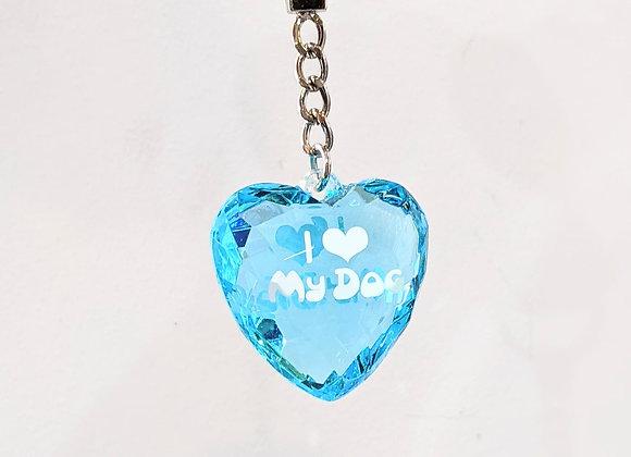 Porte clé I love my dog