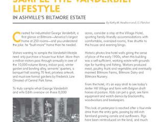 Live the Vanderbilt Lifestyle at Asheville's Biltmore
