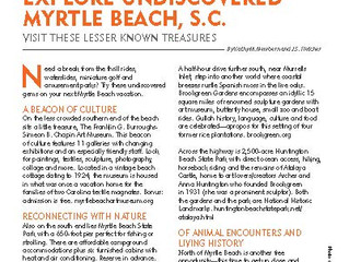 Explore undiscovered Myrtle Beach, SC, by visiting lesser-known treasures