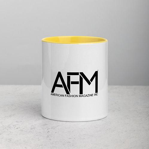 AFM Logo Mug Yellow Interior