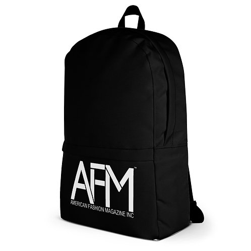 "AFM BASICS: CREW Backpack with 15"" Laptop sleeve and hidden outside pocket."