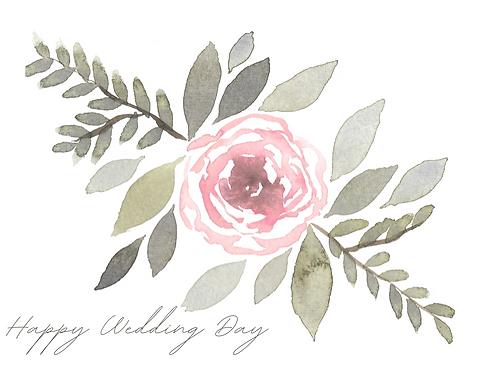 Individual Greeting Card 'HAPPY WEDDING DAY'