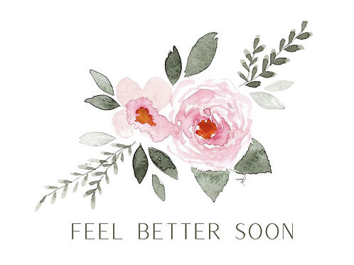 Individual Greeting Card 'FEEL BETTER SOON'