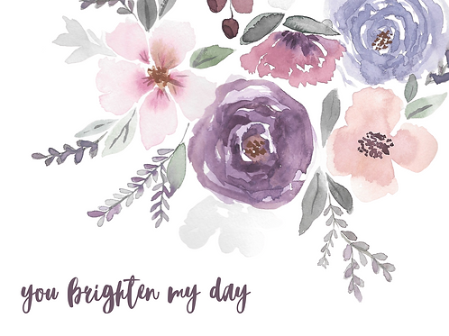 Individual Greeting Card 'BRIGHTEN MY DAY'