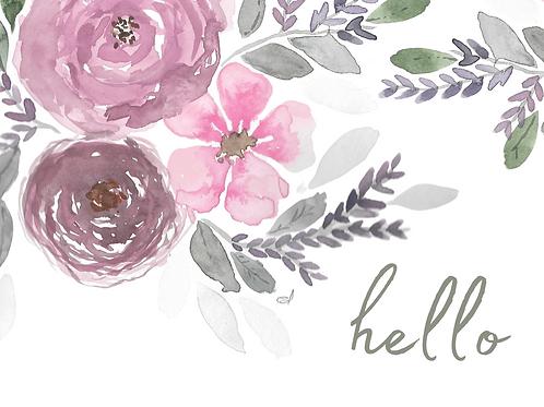 Individual Greeting Card 'HELLO'