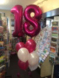 Hot Pink Large number foil balloon bunde