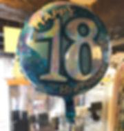 18'' 18 birthday foil helium balloon