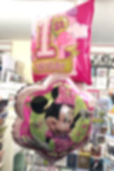Minnie Mouse age 1 Helium Balloon bundle