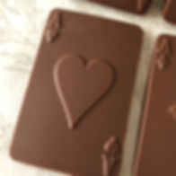 chocolate playing cards handmade