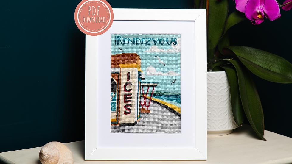 A Seaside Rendezvous Cross Stitch PDF Pattern