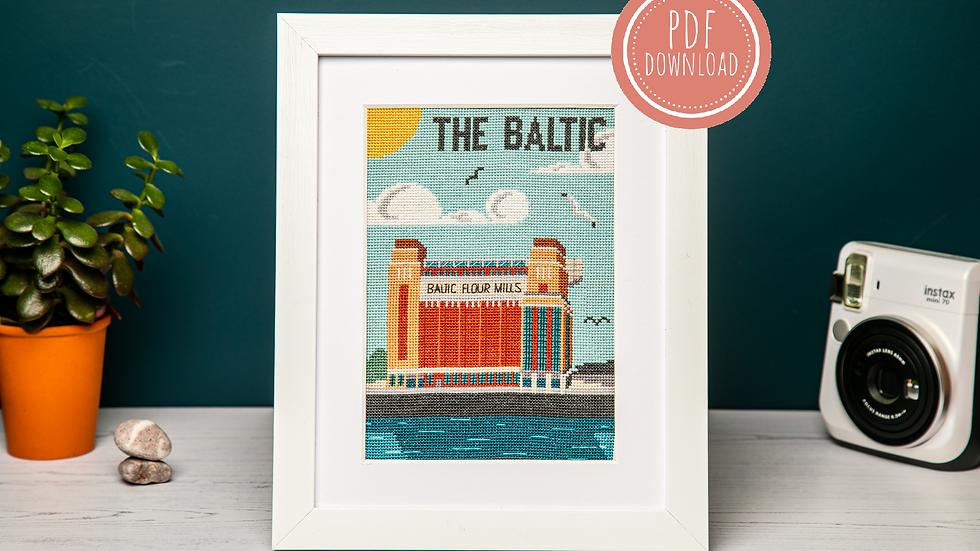 Baltic On The Tyne Cross Stitch PDF Pattern