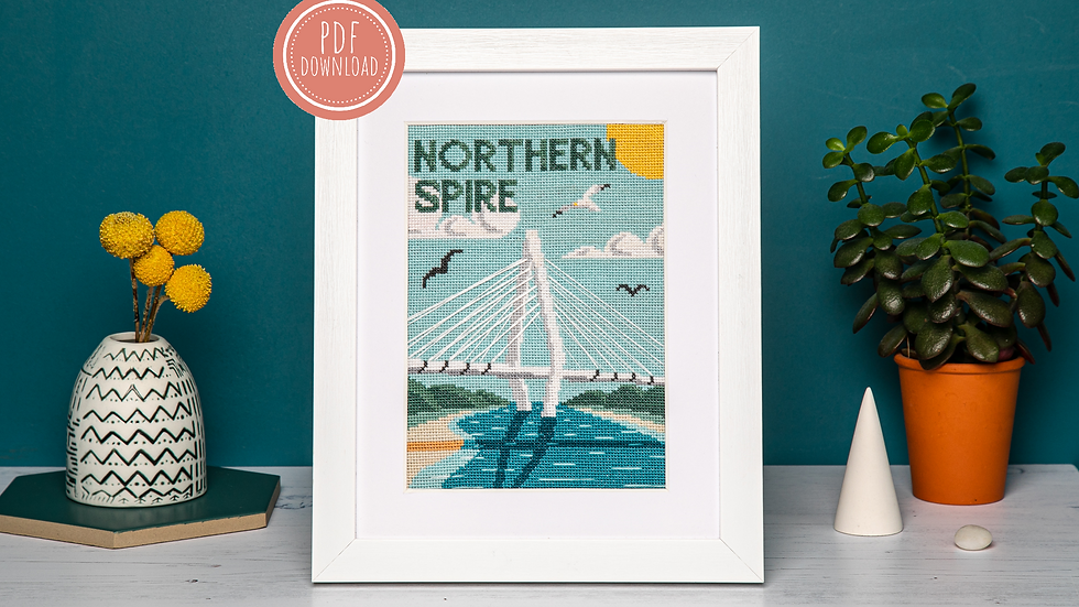 The Northern Spire Cross Stitch PDF Pattern