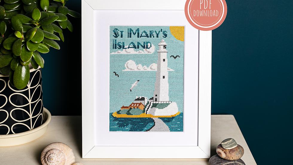 Sunny St Mary's Cross Stitch PDF Pattern