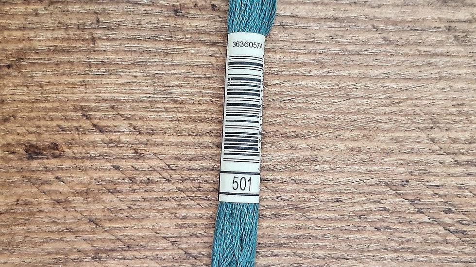 DMC Six Stranded Cotton Floss/Thread Skein (Mouline Special) - Dark Green 501
