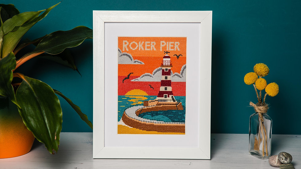 Sunrise at Roker Cross Stitch Kit