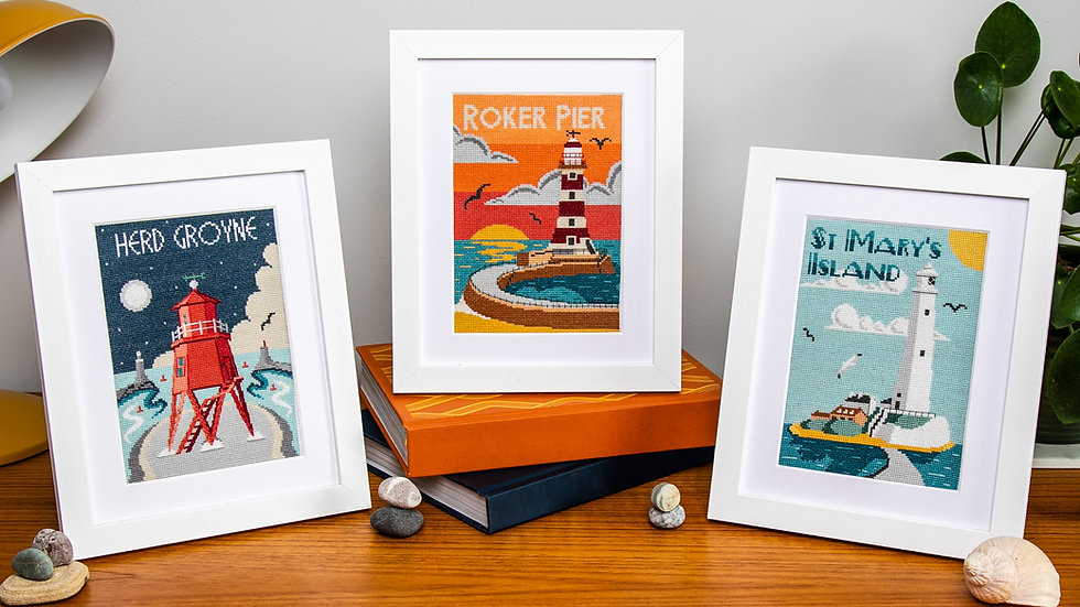 Lighthouses of Tyne and Wear Collection Cross Stitch Kit