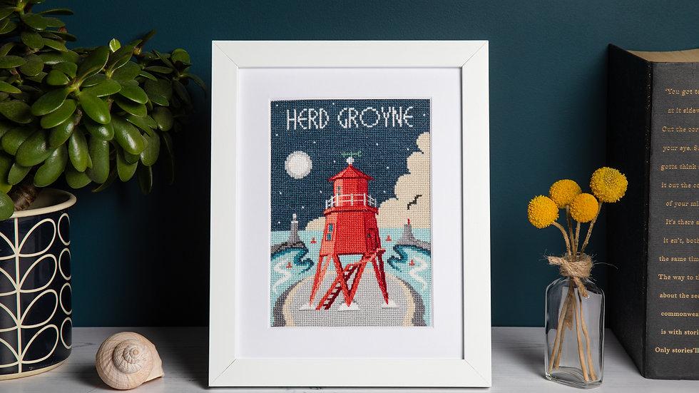 Herd Groyne Lighthouse Cross Stitch Kit
