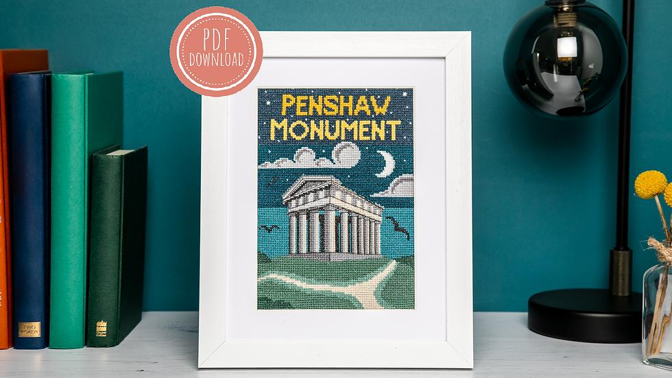 Penshaw at Dusk Cross Stitch PDF Pattern