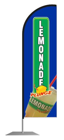 Blue Lemonade Plunge Flag