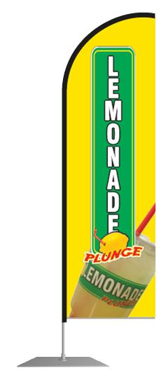 Yellow/Black Lemonade Plunge Flag