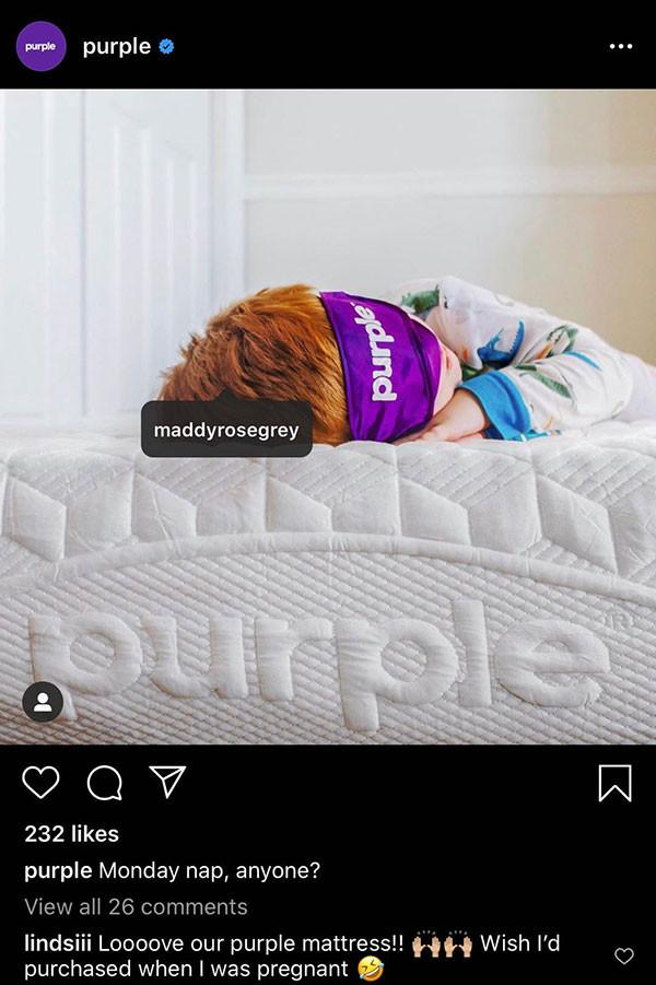 Purple Mattress   Instagram