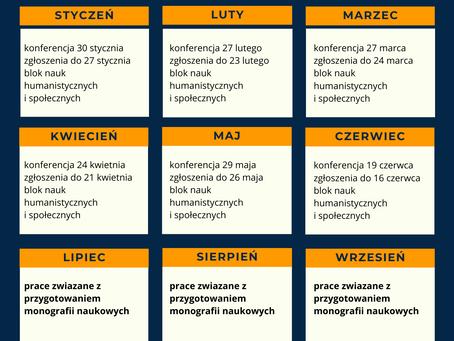 """Kalendarium konferencji w ramach """"Wschodniego Forum Nauki"""""""