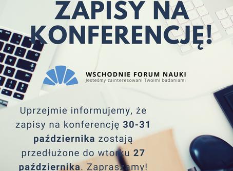 Przedłużony nabór zgłoszeń na konferencję 30-31 października!