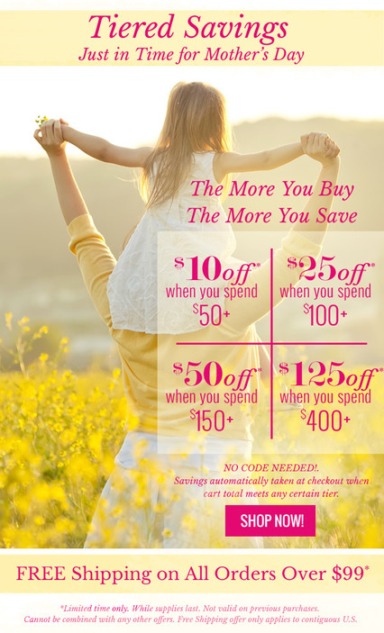 Tiered Savings - Mother's Day Email