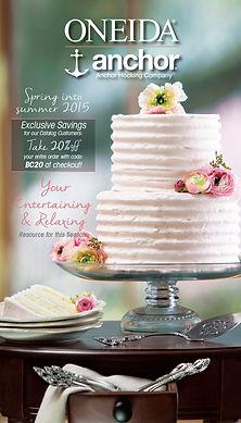 cake, flowers, oneida, catalog, glass, silverware, flatware