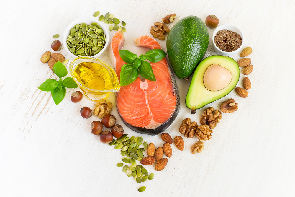 heart healthy foods, avocado, healthy fats, walnuts