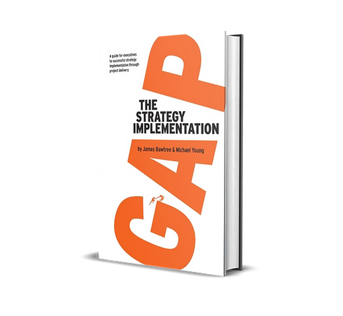 Strategy Implementation Gap - by James Bawtree - book cover