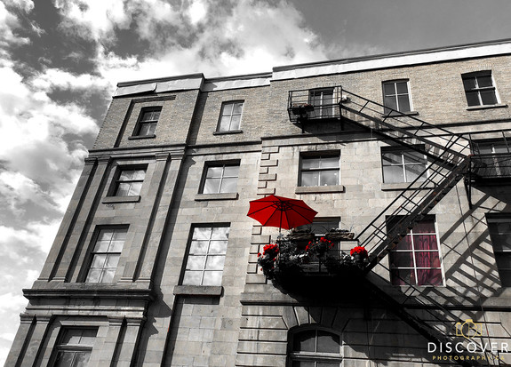 Montreal_fire_escape_red-only_umbrella_0
