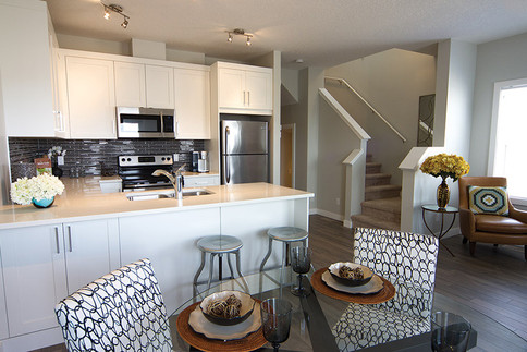 interior Jumping Pound townhomes