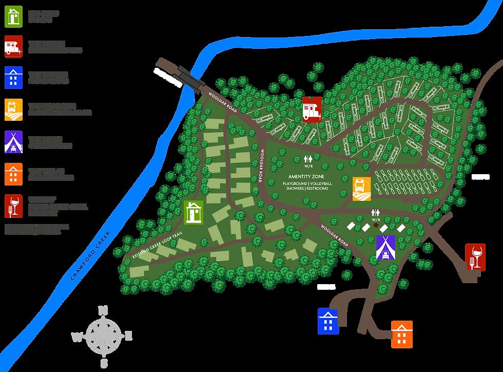 RV lot resort campground map