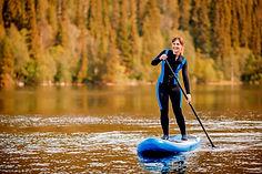 paddle boarding Kootenay Lake