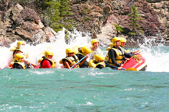 rafting in Kananaskis