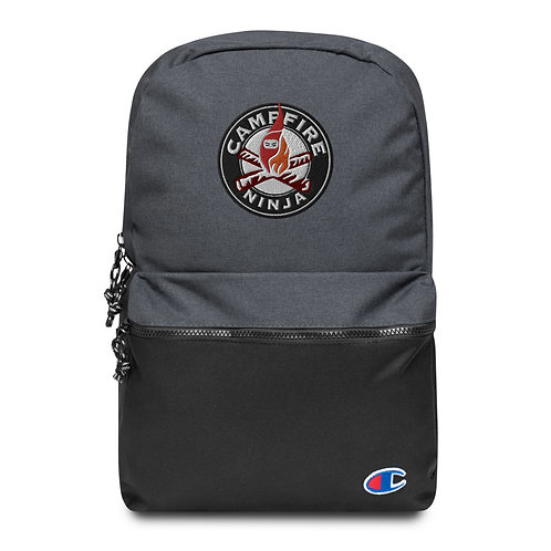 Campfire Ninja Embroidered Backpack