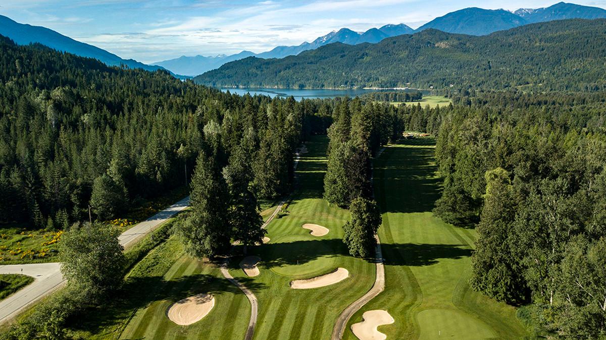 drone golf course Kootenay Lake