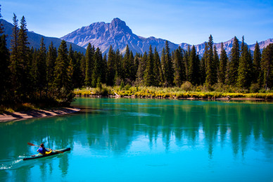 kayaker, Bow River