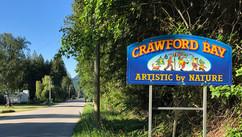 Crawford Bay is 3km